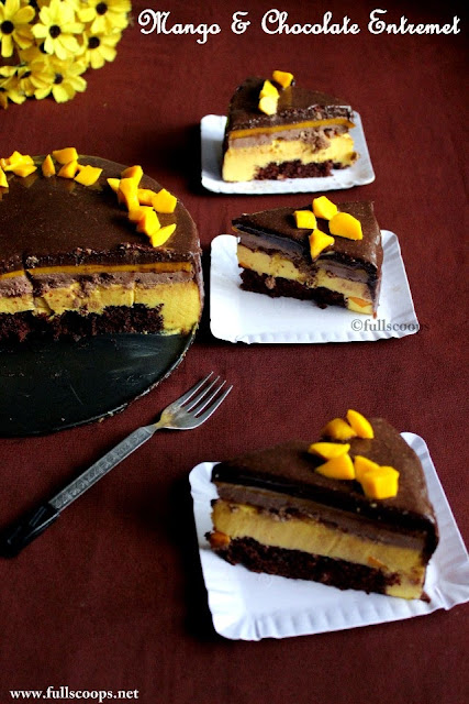 Mango & Chocolate Entremet