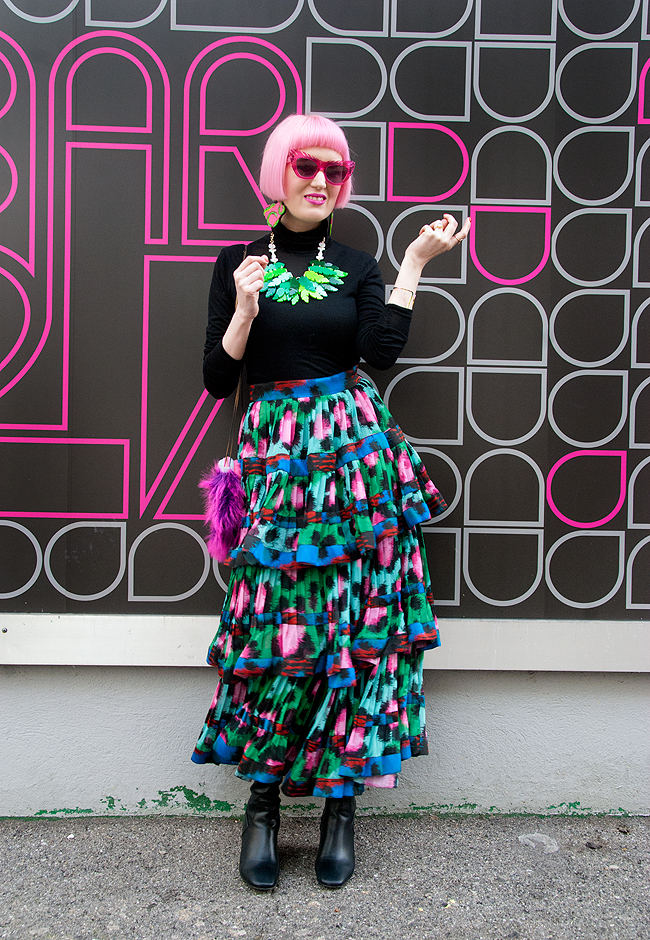 maxi skirt, leo print look, kenzo