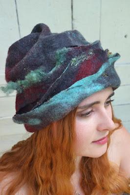 Chapeaux laine feutrée, felt, filtz,feltro wool mérinos