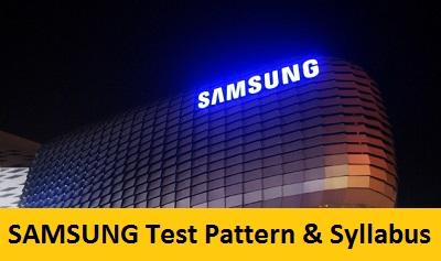 Samsung Test Pattern - Written, Online | Freshers jobs