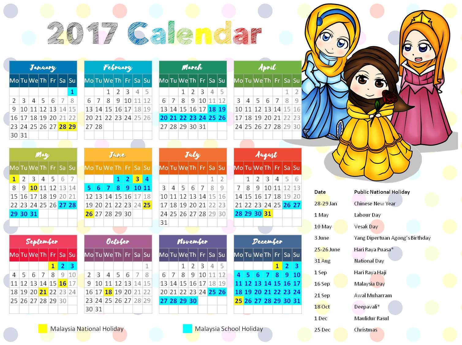 Free Little Muslimah Calendar Islamic Homeschooling Worksheets