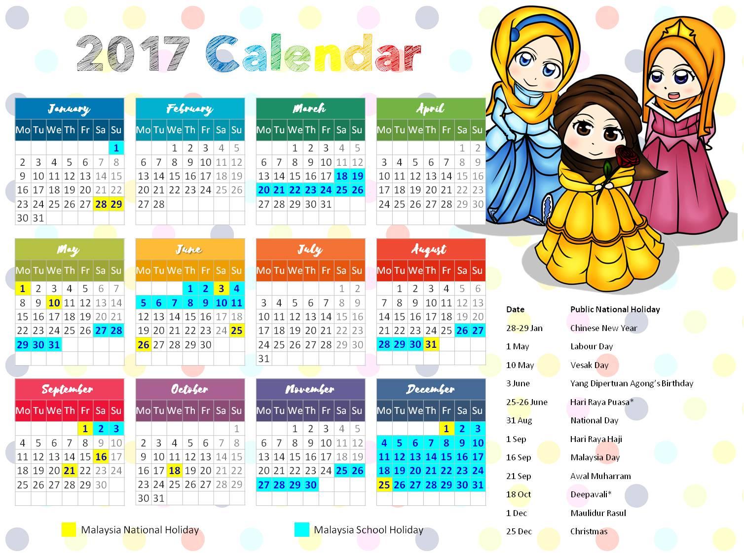 Free Little Muslimah Calendar Islamic Homeschooling Worksheets