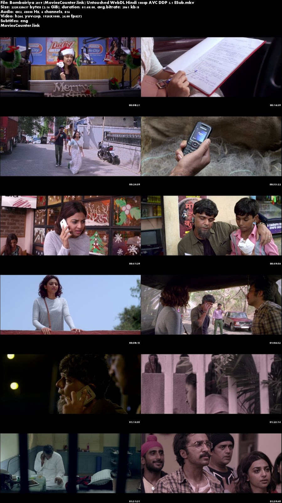 Screen Shots Bombairiya 2019 Hindi HD 1080p