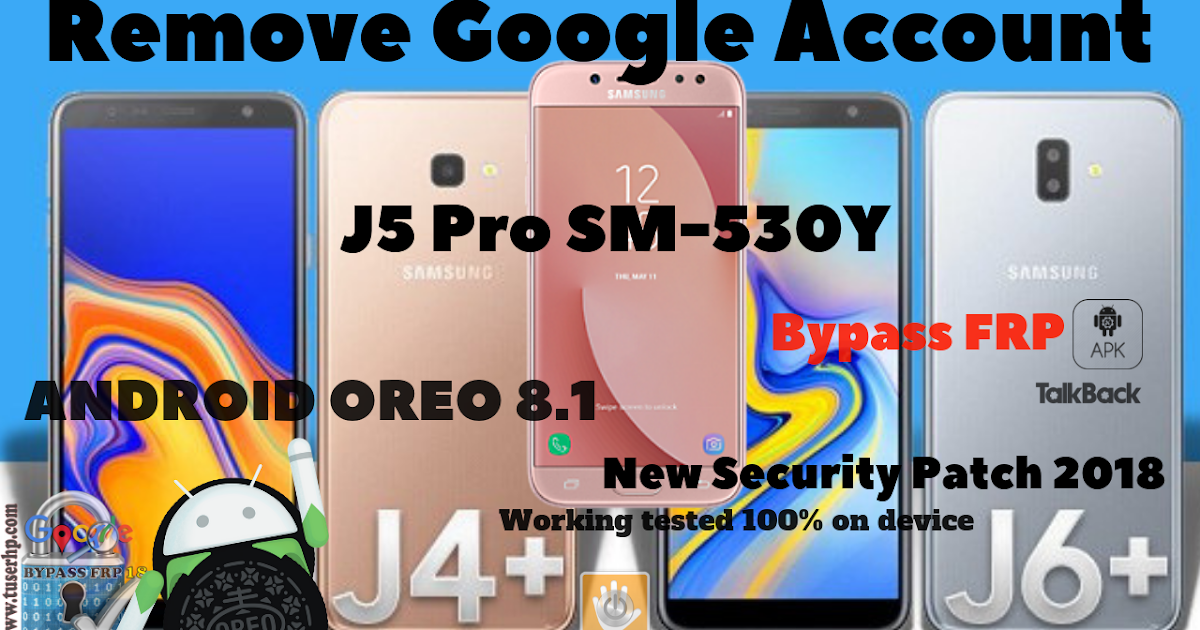 bypass frp samsung j series android