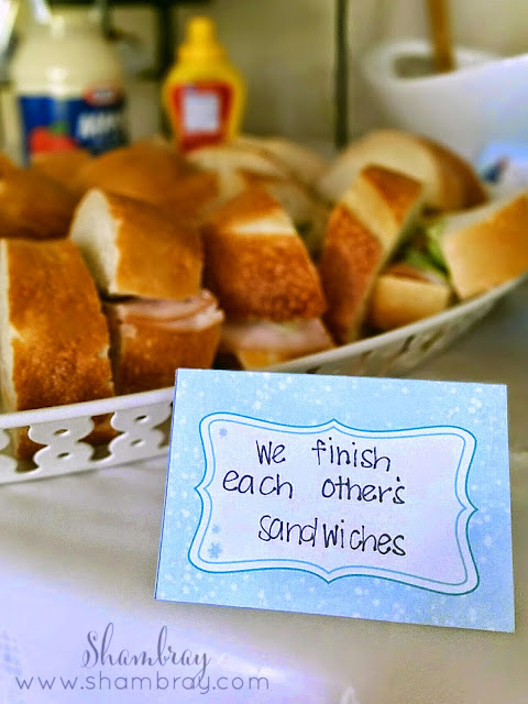 sandwiches, we finish each other's sandwiches