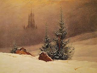 Friedrich, Paysage avec église, musée de Dortmund