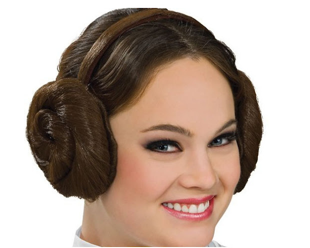 princess leia hair headphone covers