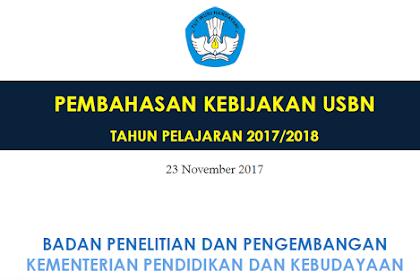 Download Pembahasan Kebijakan USBN Tahun 2018