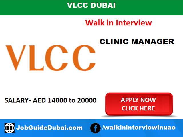 VLCC Dubai Career for Clinic Manager