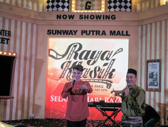 'KLASIK RAYA' AT SUNWAY PUTRA MALL, SUNWAY PUTRA MALL, Greyson Chance, Greyson Chance in Malaysia, Greyson Chance performance, Nik Qistina, Yayasan Chow Kit, The Touching Lives Club Kuala Lumpur and Selangor,