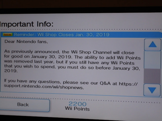 Wii Shop Channel Nintendo news reminder closes January 30 2019