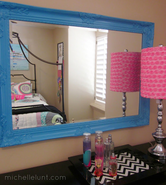 Honey I M Home How To Paint A Mirror Frame Amp A Cute Room