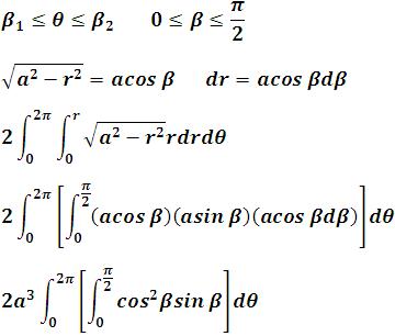 hacemos las sustituciones de la variable cambiada y los nuevos límites de integración