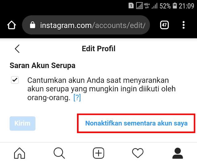 Cara Tutup Akun Instagram Untuk Sementara Lewat HP 12