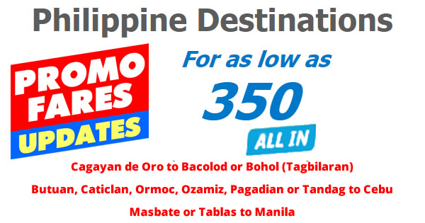 Cebu Pacific Offers P350 All-In Fares 2017