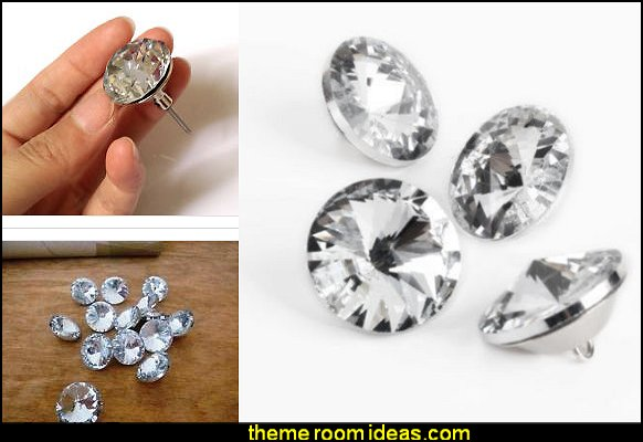 DIY Crystal Diamante Rhinestone Round Buttons Upholstery Headboard Sofa   rhinestone headboards - rhinestone phone case - rhinestone shoes - bling headboards - rhinestone bags - rhinestone accessories - diamonte decorations - faux crystal decor - crystal diamante headboards - glam style Shoe shopping fashion - sequins