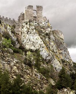 Castle fortress on a mountain