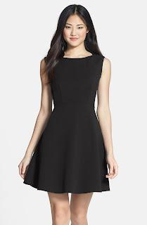 image result a line black dress