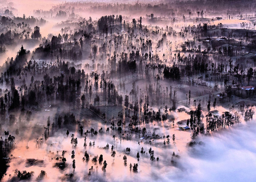 These Are The 35 Best Pictures Of 2016 National Geographic Traveler Photo Contest - Misty At Cemoro Lawang, Indonesia