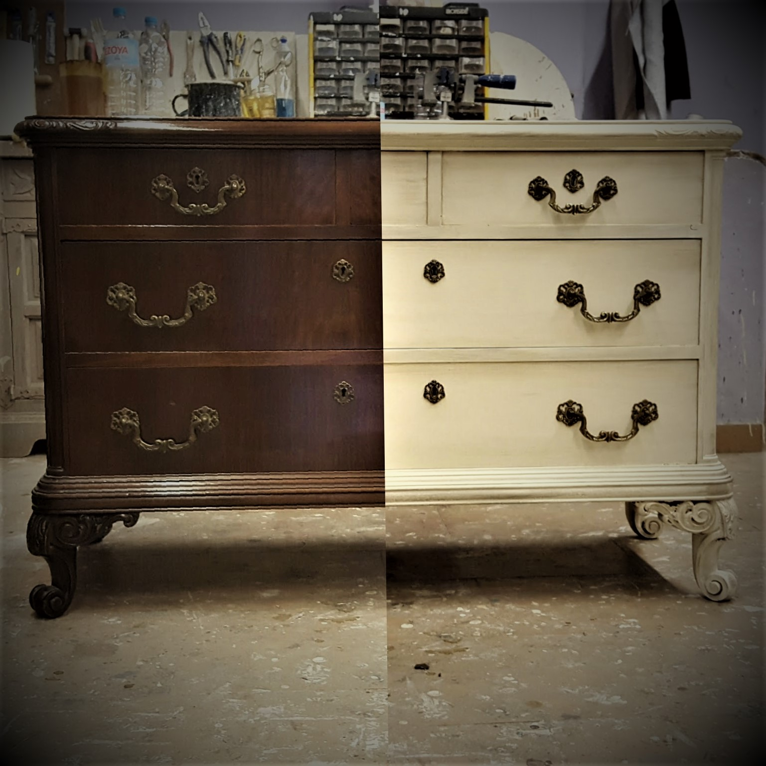 Muebles Pintados En Blanco Trendy Cheap Amazing Colores Piedra  # Muebles Lijados Y Pintados