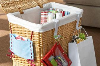 Gift Wrap Organization Ideas
