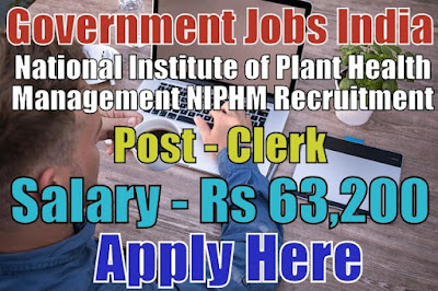 NIPHM Recruitment 2018