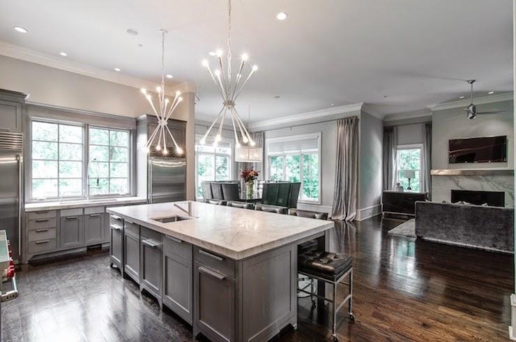 armoires de cuisine grise cuisine grise. Black Bedroom Furniture Sets. Home Design Ideas