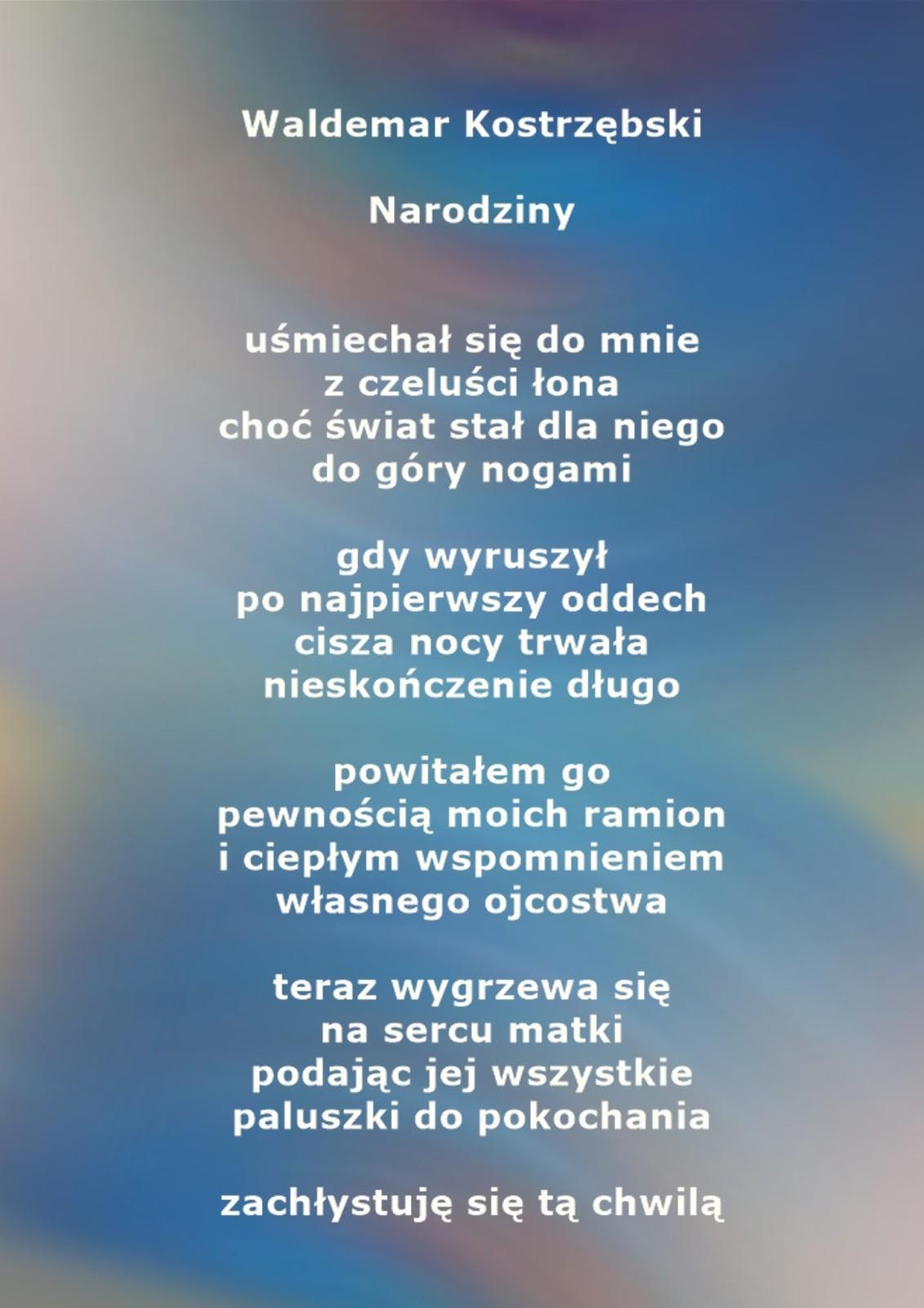 Poezja Po Godzinach Waldemar Kostrzębski 2017