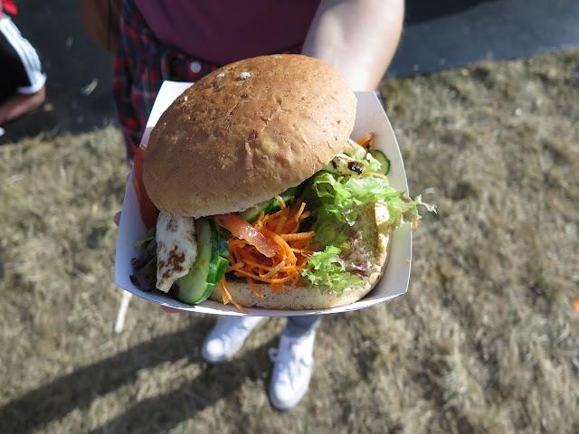 Halloumi burger, V Festival