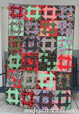 Holiday Homies fabric in Churn Baby Churn quilt by sewjoycreations