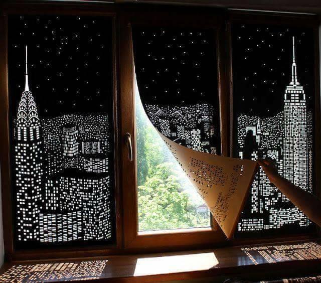 dziurkowane rolety okienne