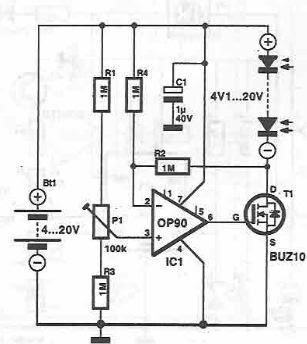 A Simple Solar Cell Power System Circuit Diagram