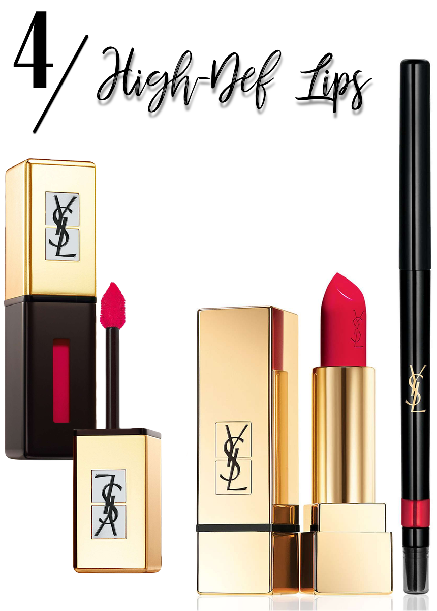 YSL 'Pop Water - Vernis à Lèvres' Glossy Stain and YSL Red Lip Kit