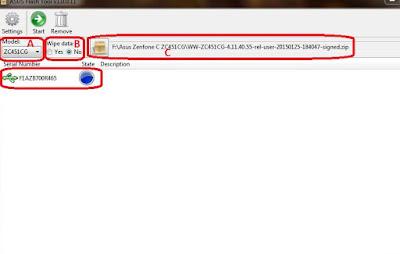 Flash Hp Asus Zenfone C ZC451CG
