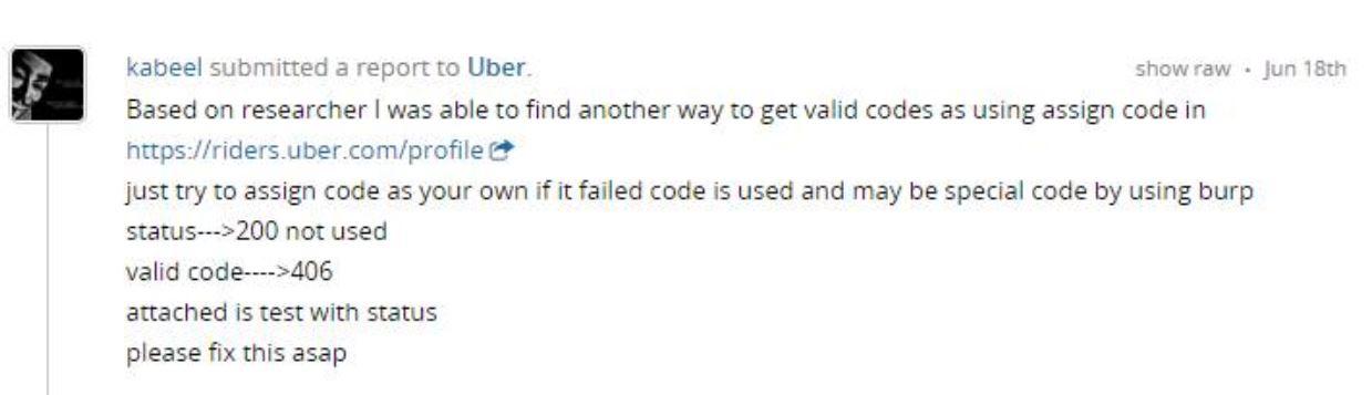 Uber Promo-Codes Predictable Vulnerability | Mohamed M Fouad