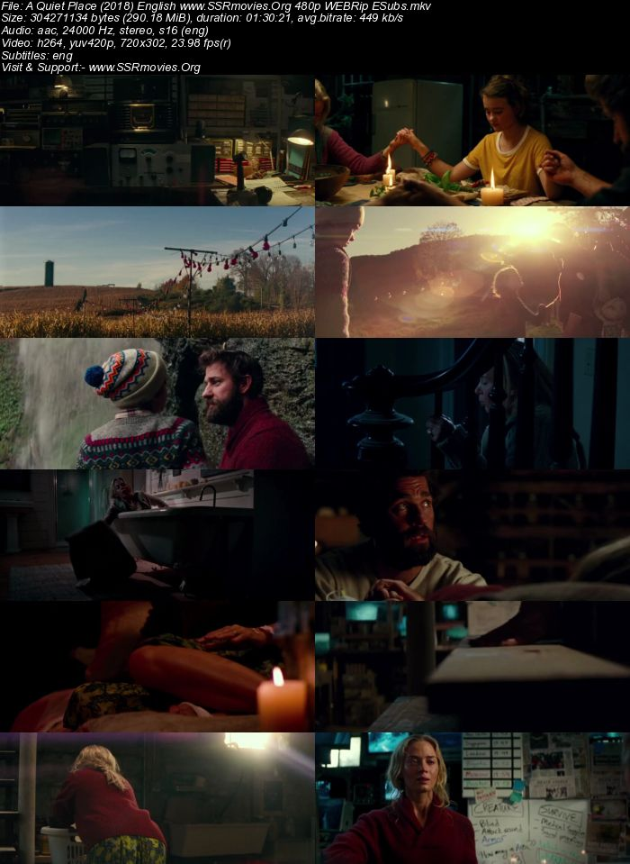 A Quiet Place (2018) English 480p WEBRip 300MB