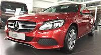 Mercedes C200 2018 màu Đỏ Hyacinth 996