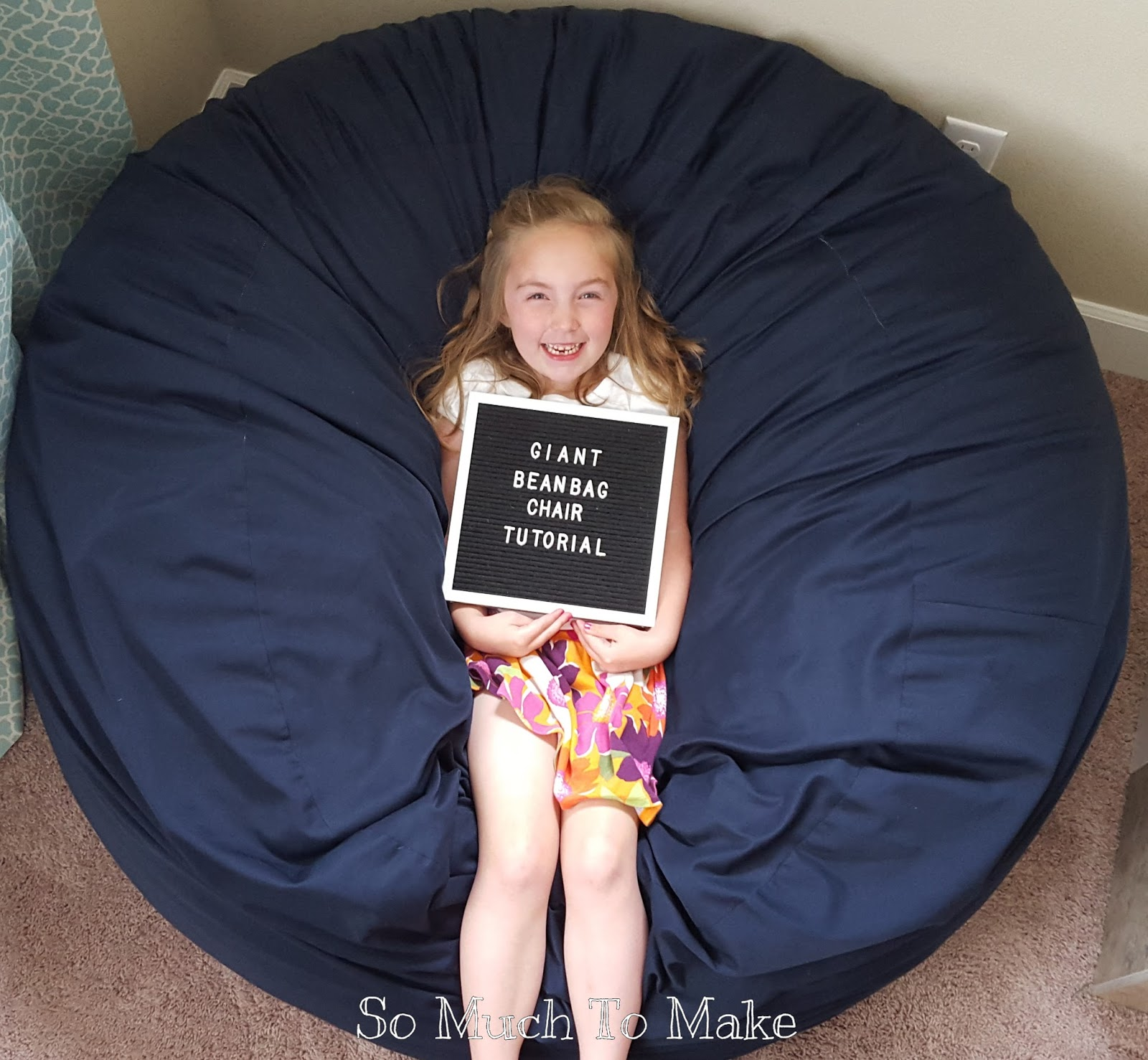 Peachy Giant Bean Bag Chair Tutorial So Much To Make Ocoug Best Dining Table And Chair Ideas Images Ocougorg