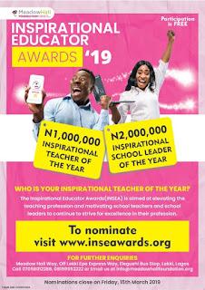 Meadow Hall Foundation Inspirational Educator Awards (INSEA) for Best Teachers 2019