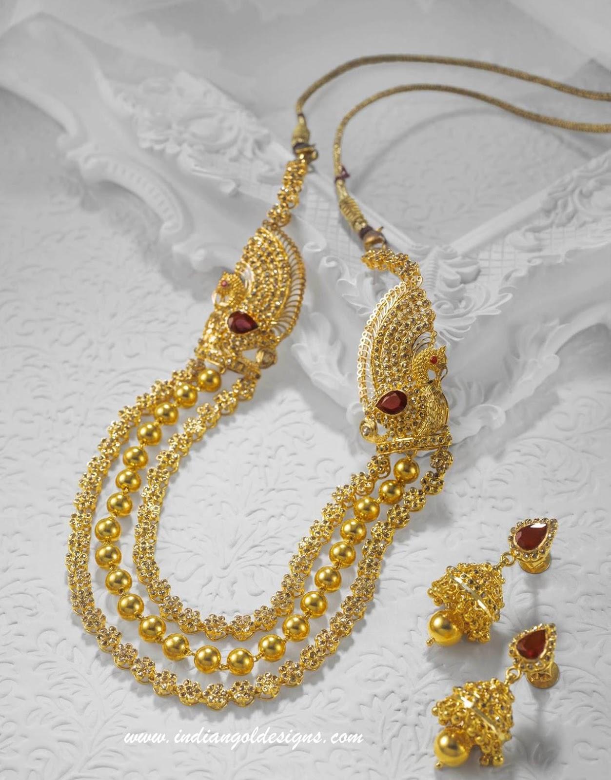 Gold and Diamond jewellery designs kalyan jewellers uncut diamond