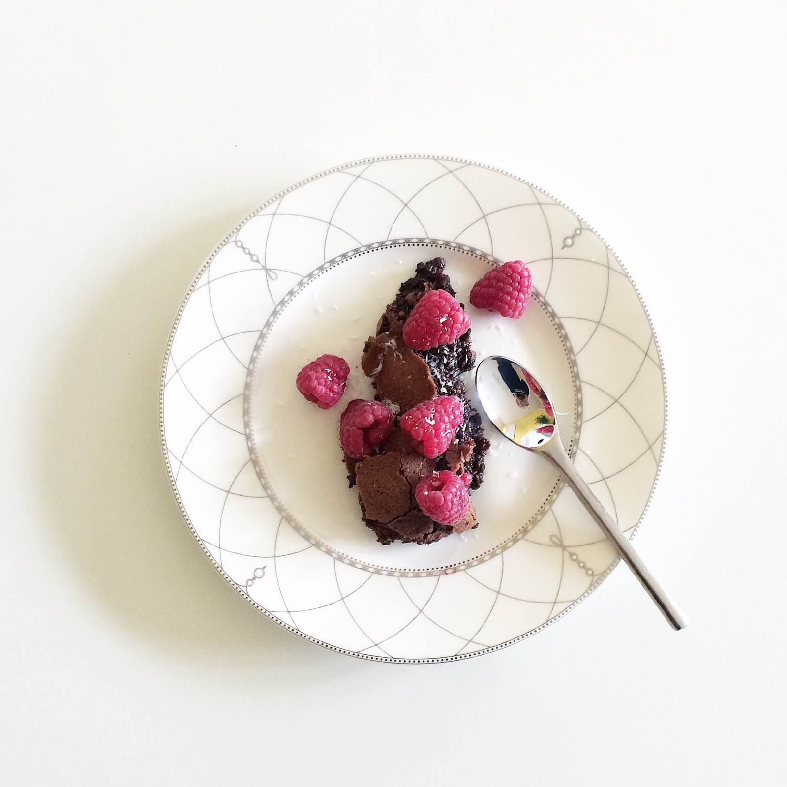 kristjaana mere healthy breakfast chocolate cake raspberries