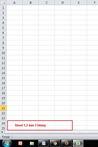 Cara mudah menampilkan sheet tab 1,2,3 yang hilang di ...