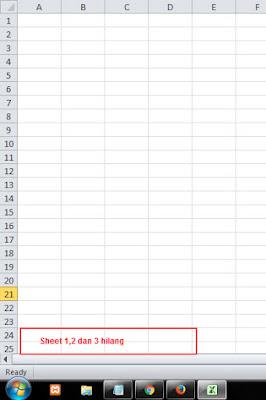 Cara menampilkan sheet 1,2,3 yang hilang di ms excel 2013, 2010 dan 2007
