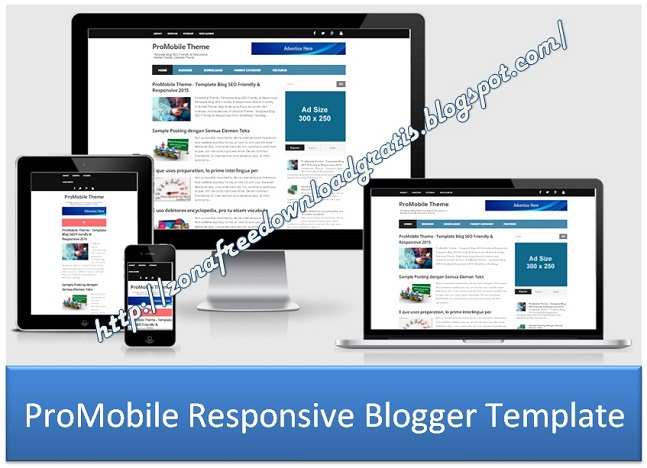 ProMobile Responsive Blogger Template