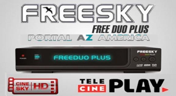 Resultado de imagem para Freesky Freeduo+ HD Plus portal azamerica