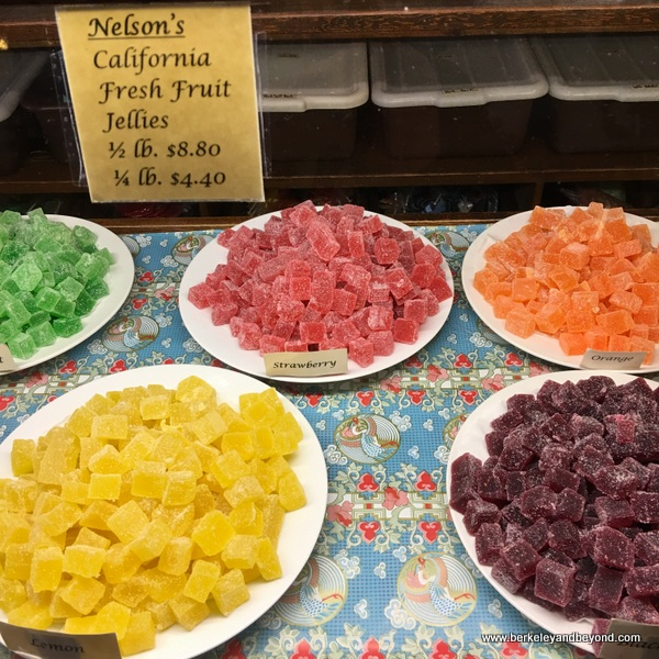 fresh fruit jellies at Nelson's Columbia Candy Kitchen in Columbia State Historic Park in California