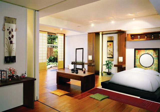 oriental theme home decorating