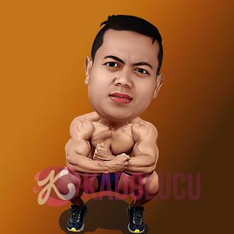 Karikatur Body Builder