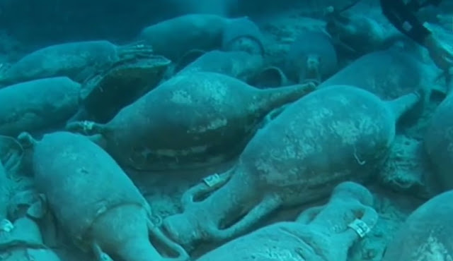 150 Roman era amphorae discovered near Croatian island of Mljet