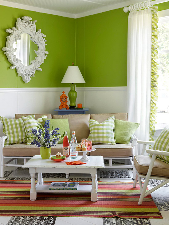 Modern Furniture: Colorful Living Rooms Decorating Ideas 2012